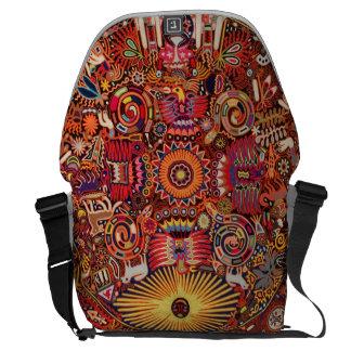 Oaxaca Mexico Mexican Mayan Tribal Art Boho Travel Messenger Bag