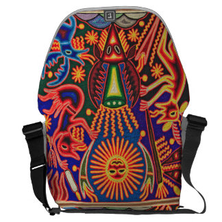 Oaxaca Mexico Mexican Mayan Tribal Art Boho Travel Messenger Bags
