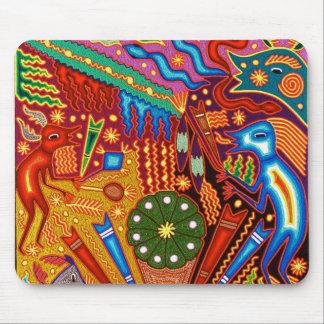 Oaxaca Mexico Mexican Mayan Tribal Art Boho Travel Mouse Pad