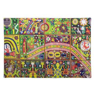 Oaxaca Mexico Mexican Mayan Tribal Art Boho Travel Placemat