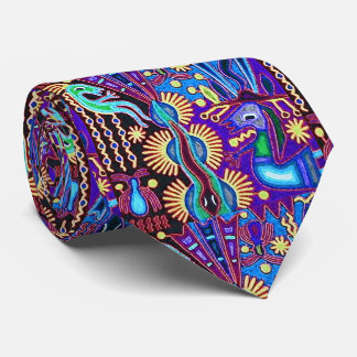 Oaxaca Mexico Mexican Mayan Tribal Art Boho Travel Tie
