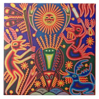 Oaxaca Mexico Mexican Mayan Tribal Art Boho Travel Tile