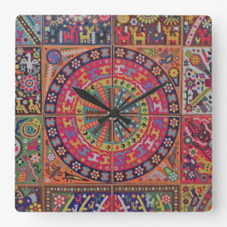 Oaxaca Mexico Mexican Mayan Tribal Art Boho Travel Wallclock