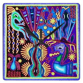 Oaxaca Mexico Mexican Mayan Tribal Art Boho Travel Wallclocks