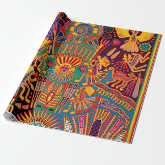 Oaxaca Mexico Mexican Mayan Tribal Art Boho Travel Wrapping Paper