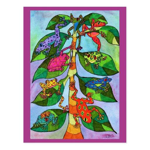 Oaxacan Frog Tree of Life Postcard