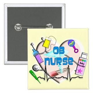 OB Nurse Art Gifts 15 Cm Square Badge