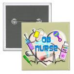 OB Nurse Art Gifts Pinback Button