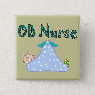 OB Nurse Gifts, Baby in Blanket--Adorable 15 Cm Square Badge