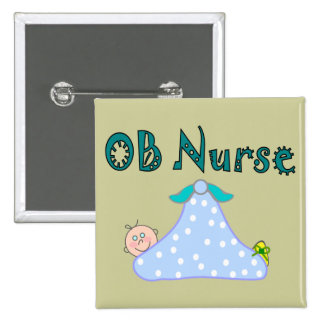OB Nurse Gifts, Baby in Blanket--Adorable 15 Cm Square Badge