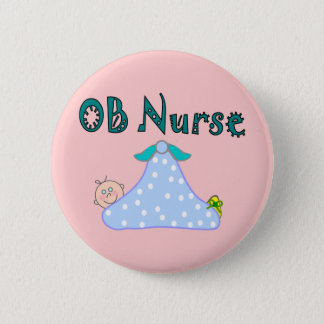 OB Nurse Gifts, Baby in Blanket--Adorable 6 Cm Round Badge