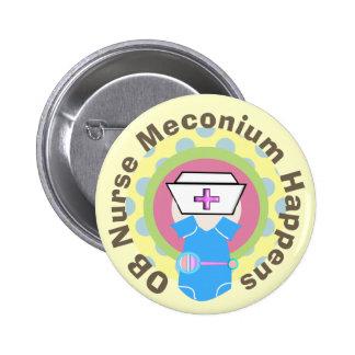 """OB Nurse Gifts """"Meconium Happens"""" 6 Cm Round Badge"""