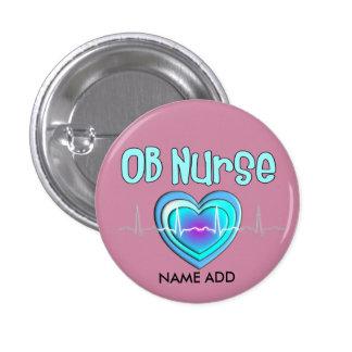 OB Nurse Name Buttons Customizable