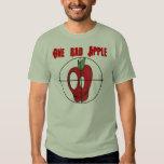 OBA camo red apple skull target logo shirt