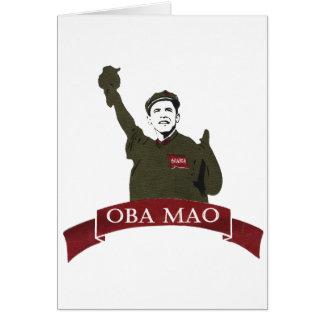 OBA MAO Obama + Statue of Liberty Parody Greeting Card
