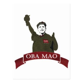 OBA MAO Obama + Statue of Liberty Parody Postcard