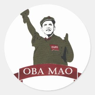OBA MAO Obama + Statue of Liberty Parody Round Sticker