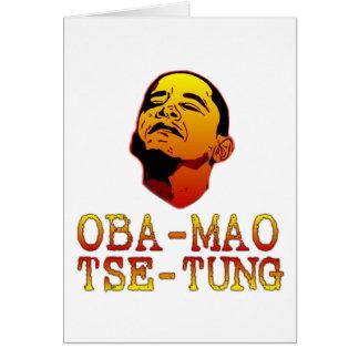 Oba Mao Tse Tung Greeting Card