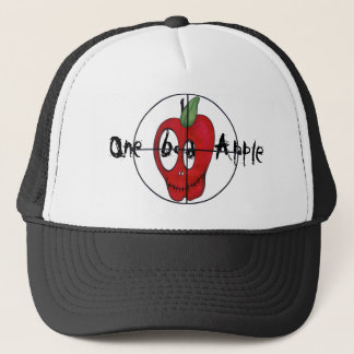 OBA red apple skull target trucker hat