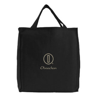 Obaachan's Embroidered Tote Bag