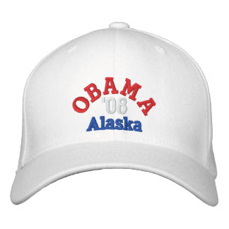 Obama '08 Alaska Hat Embroidered Hats