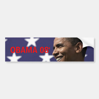 OBAMA 08' BUMPER STICKER