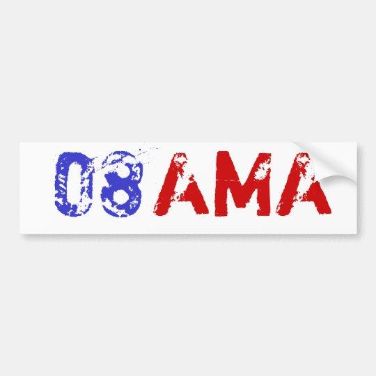 Obama 08 Bumpersticker Bumper Sticker