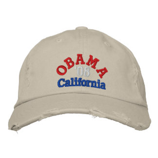 Obama '08 California Hat Embroidered Hats