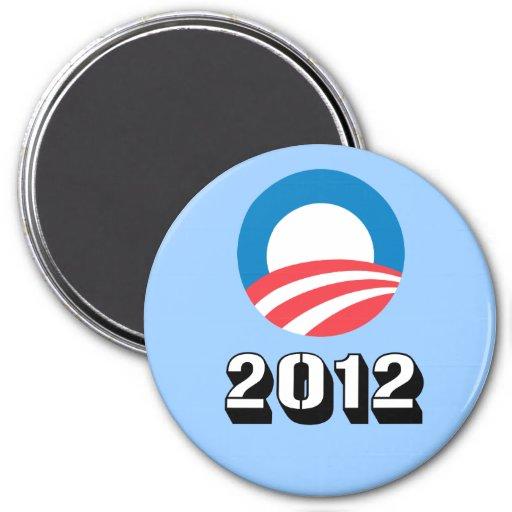 Obama '12 7.5 cm round magnet