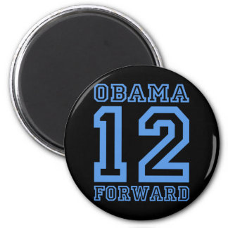 Obama 12 forward 6 cm round magnet