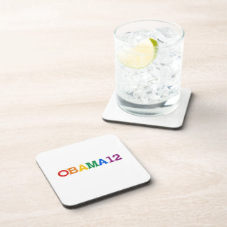 Obama 12 Rainbow Drink Coasters