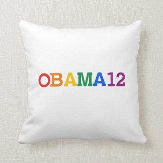 Obama 12 Rainbow Throw Pillow