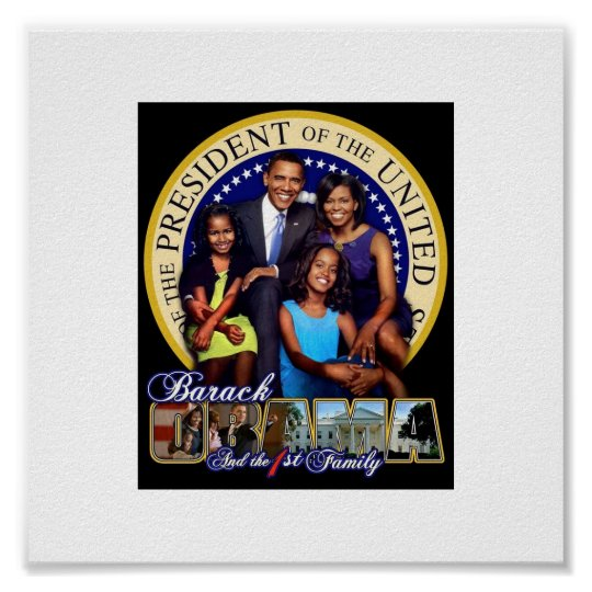 Obama 1st Family Poster