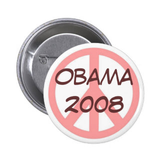 Obama 2008 Button Pink Brown