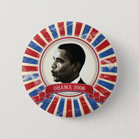 Obama 2008 Circle Burst Button 61027