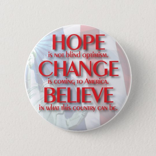 Obama 2008 Hope Change Button 61019