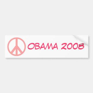 Obama 2008 Pink Peace Bumper Sticker