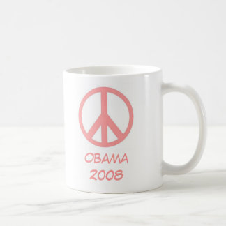 Obama 2008 Pink Peace Mug