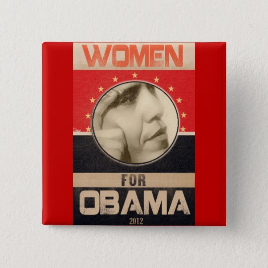 Obama 2012 15 cm square badge