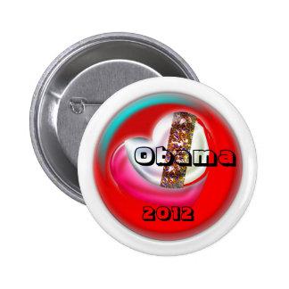 Obama 2012 6 cm round badge