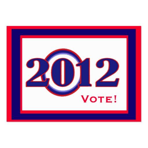 Obama 2012 Big O Calendar Wallet Card Business Card Templates