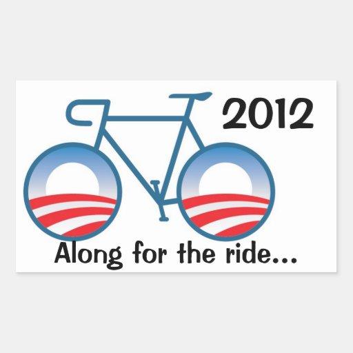 Obama 2012 Bike - Along for the ride... Rectangular Sticker