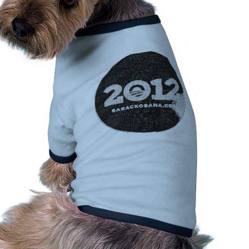 Obama 2012 Black and White Design Ringer Dog Shirt