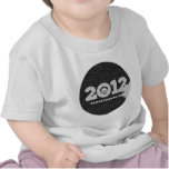 Obama 2012 Black and White Design T Shirts