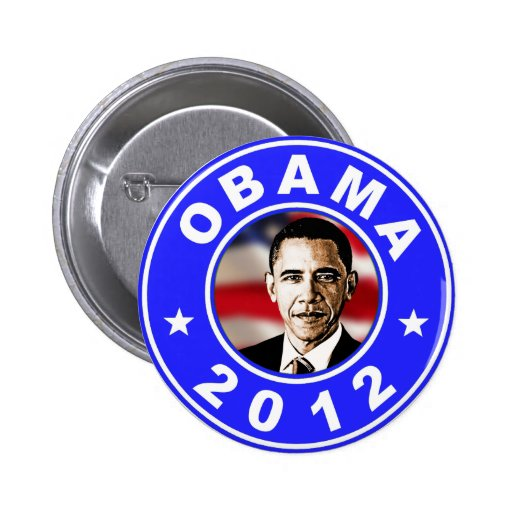Obama 2012 - Blue Buttons