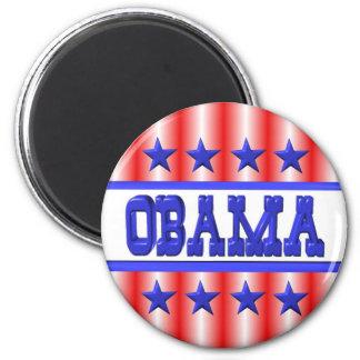 Obama 2012 blue stars by Valxart 6 Cm Round Magnet