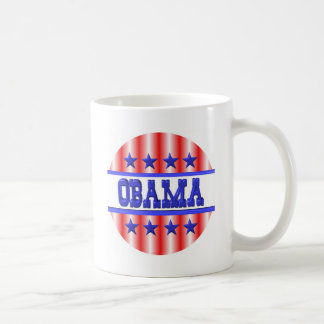 Obama 2012 blue stars by Valxart Basic White Mug