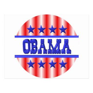 Obama 2012 blue stars by Valxart Postcard
