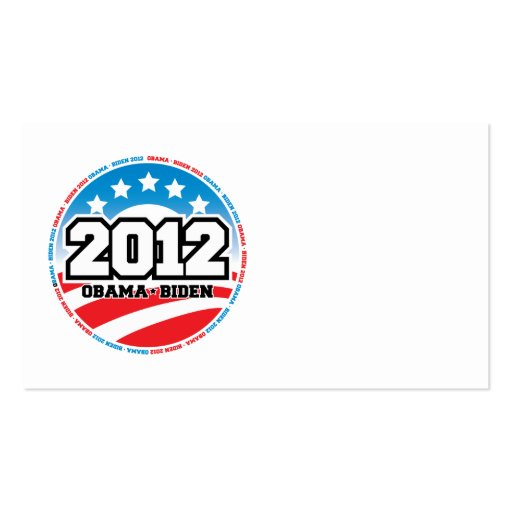 Obama 2012 business card templates