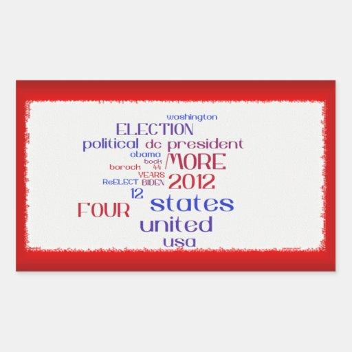 Obama 2012 Cloud Sticker